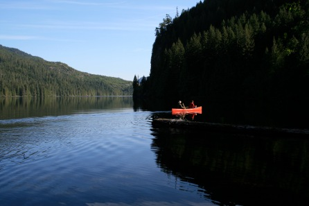 Collecting stickleback, McCreight Lake, Vancouver Island, BC